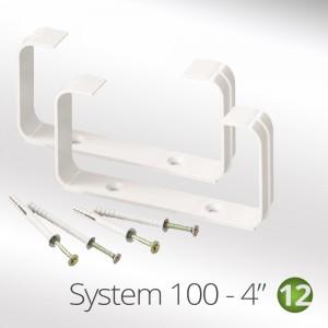 "100mm -(4"") Flat Tube Ducting Clip (2 x per pack)"
