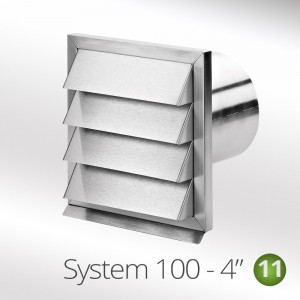 100mm round outside stainless steel grill vent