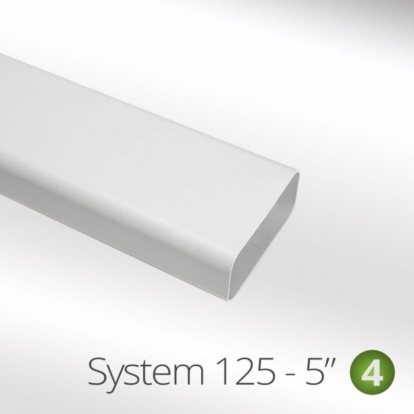 Ducting Flat Tube Pipe 155mm x 75mm