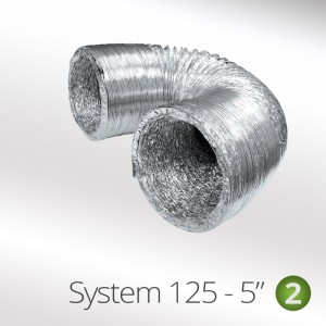 1.5 Mtr 125mm Aluminium flexi hose