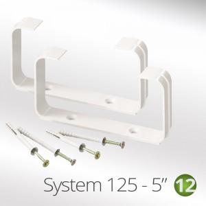 "125mm -(5"") Flat Tube Ducting Clip (2 x per pack)"
