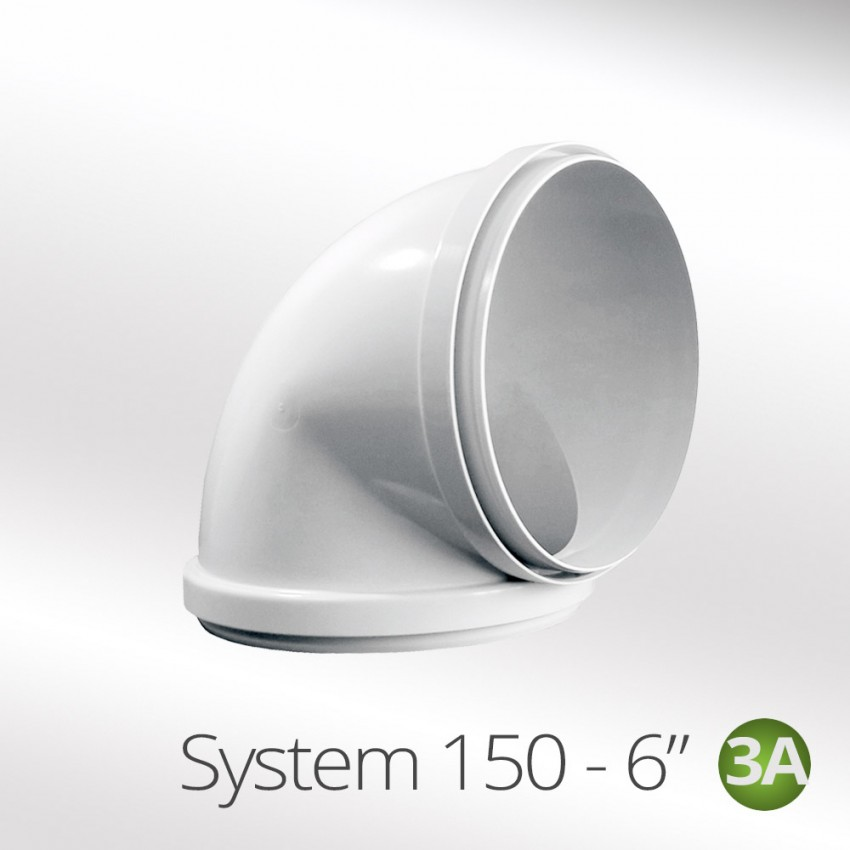150mm-90°-Round-ducting-Elbow