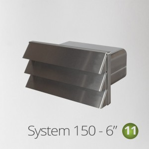 """150-GRILLE-RECTANGULAR-SS USE WITH 6"""" FLAT DUCTING"""