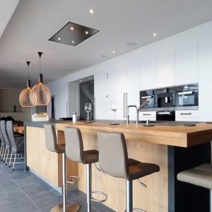 Delux 90cm Ceiling Cooker Hood - Stainless Steel