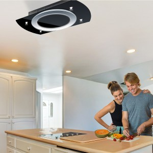 Luna Recirculating Cooker Hood - Black