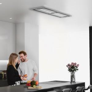 Vita Ceiling Cooker Hood 1200 x 300mm Stainless Steel