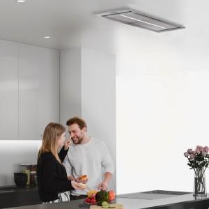 Vita Ceiling Cooker Hood 900mm x 300mm Stainless Steel