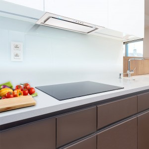 Canopy Extractor Hood 72cm White Glass