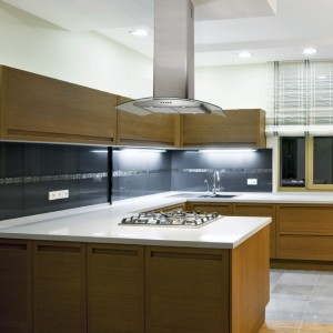 70cm Island Hood Curved Glass Stainless Steel