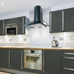 90cm Curved Glass Hood - Anthracite