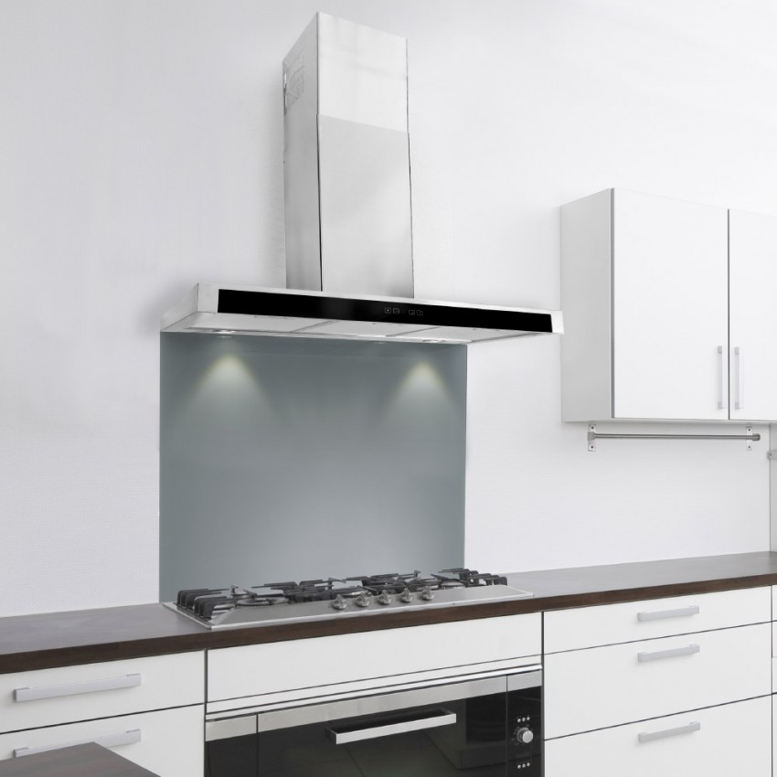 110cm Slim With Glass Front - Stainless Steel