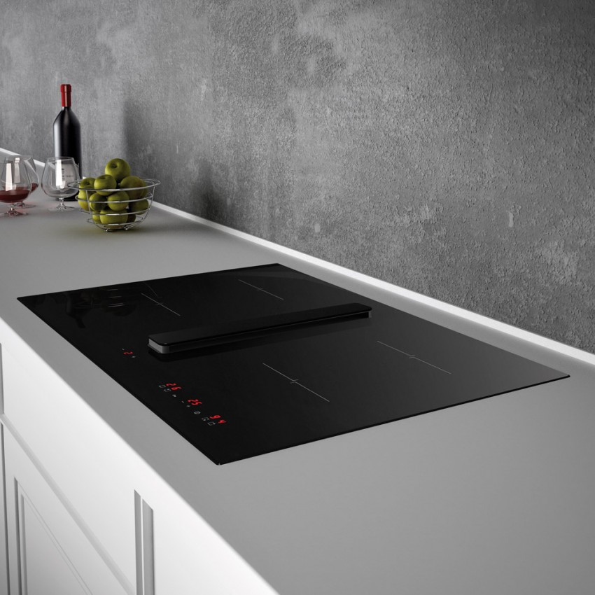 Arcus Induction Hob with Extractor Fan