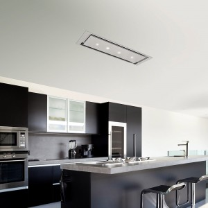 Anzi Ceiling Cooker Hood 1200 x 300mm Stainless Steel