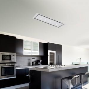 Anzi Ceiling Cooker Hood 1200 x 300mm White