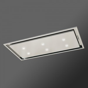 Anzi Ceiling Cooker Hood - Stainless Steel with Drop Down Box
