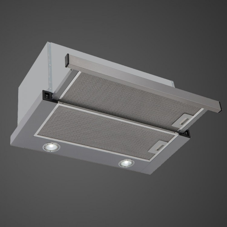 kitchen hood lights 90cm telescopic with led lights stainless steel 1806