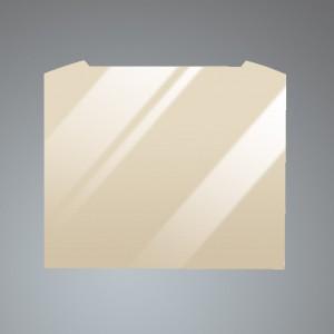 60cm Curved Cream Glass Splashback