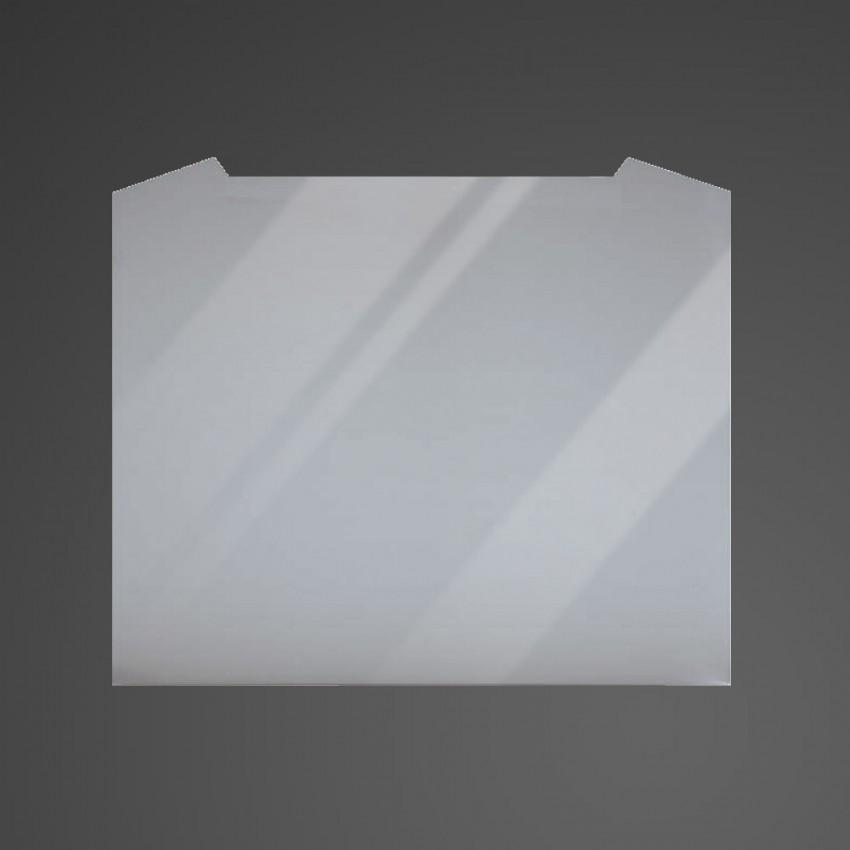 60cm Curved Silver Glass Splashback