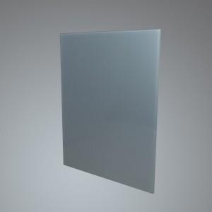 60cm Straight Silver Glass Splashback