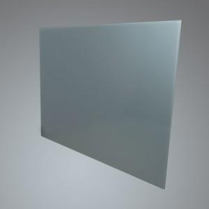 90cm Straight Silver Glass Splashback