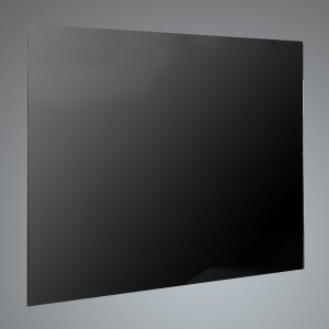 60cm Straight Black Glass Splashback