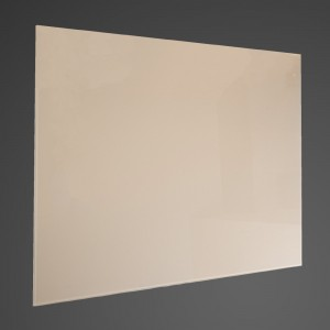 60cm Straight Cream Glass Splashback