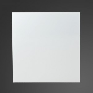 90cm Straight White Glass Splashback