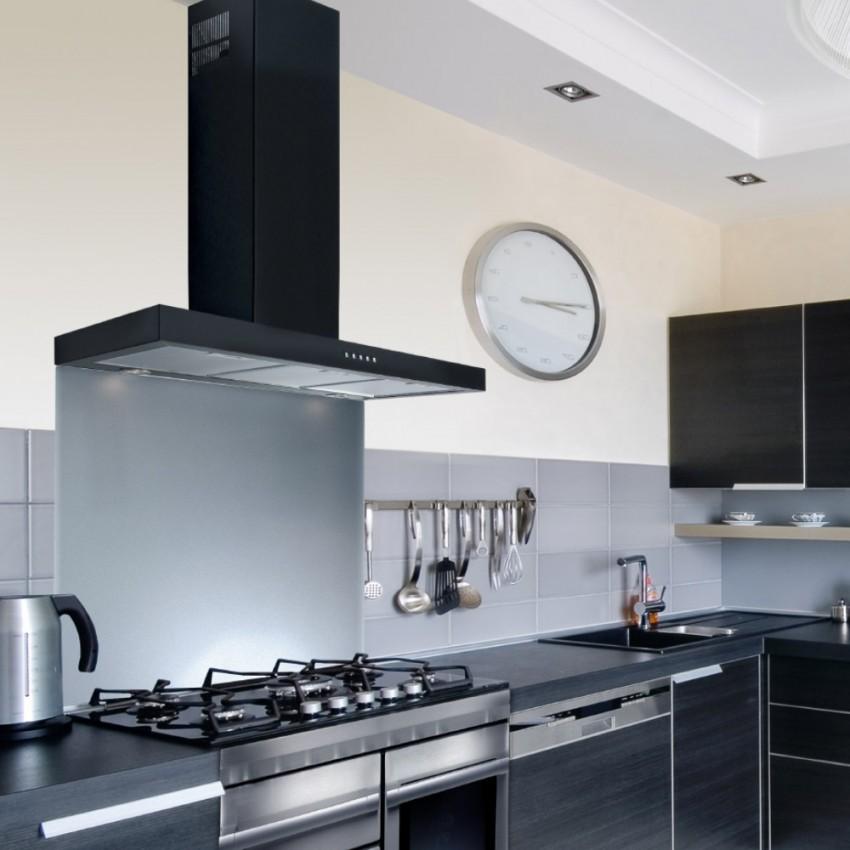 60cm Flat Black Kitchen Extractor