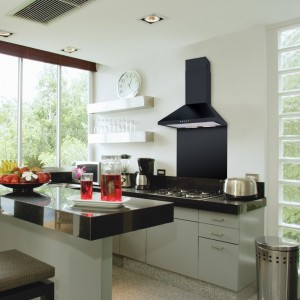 90cm Chimney Cooker Hood - Black