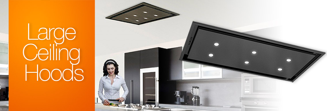 Large ceiling extractor hood ducting
